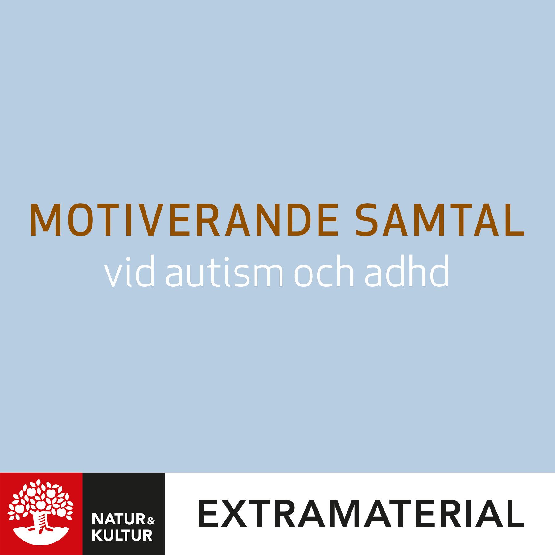 Motiverande samtal vid autism och ADHD
