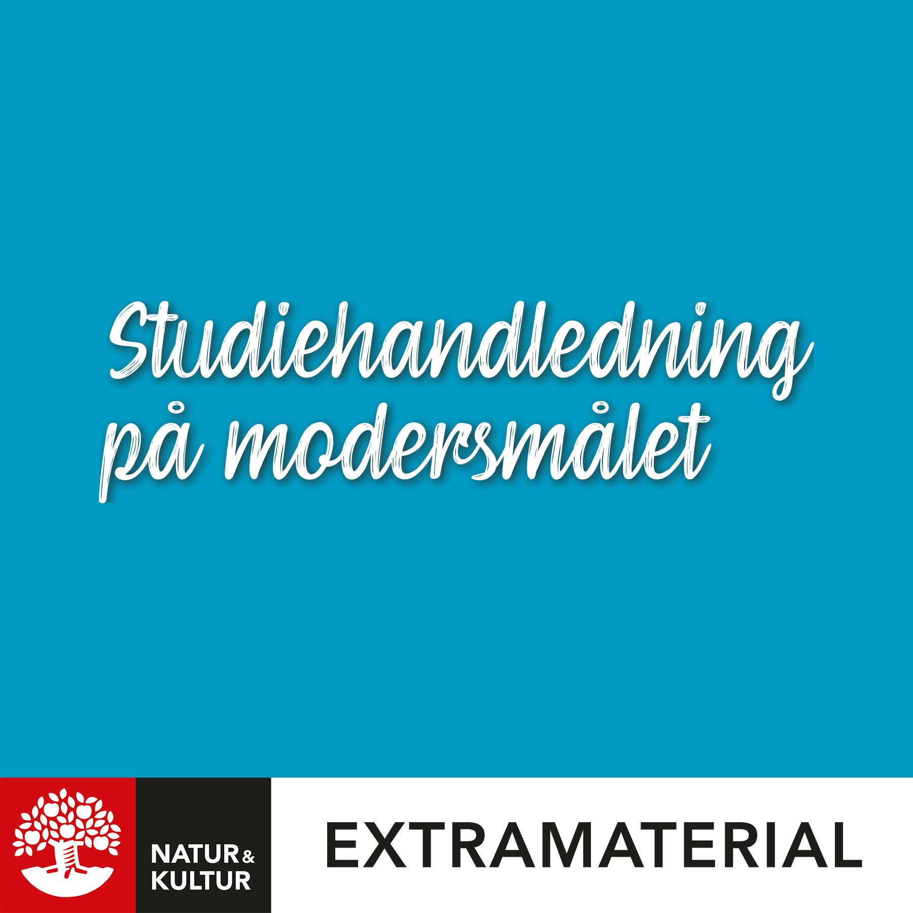 Studiehandledning på modersmålet
