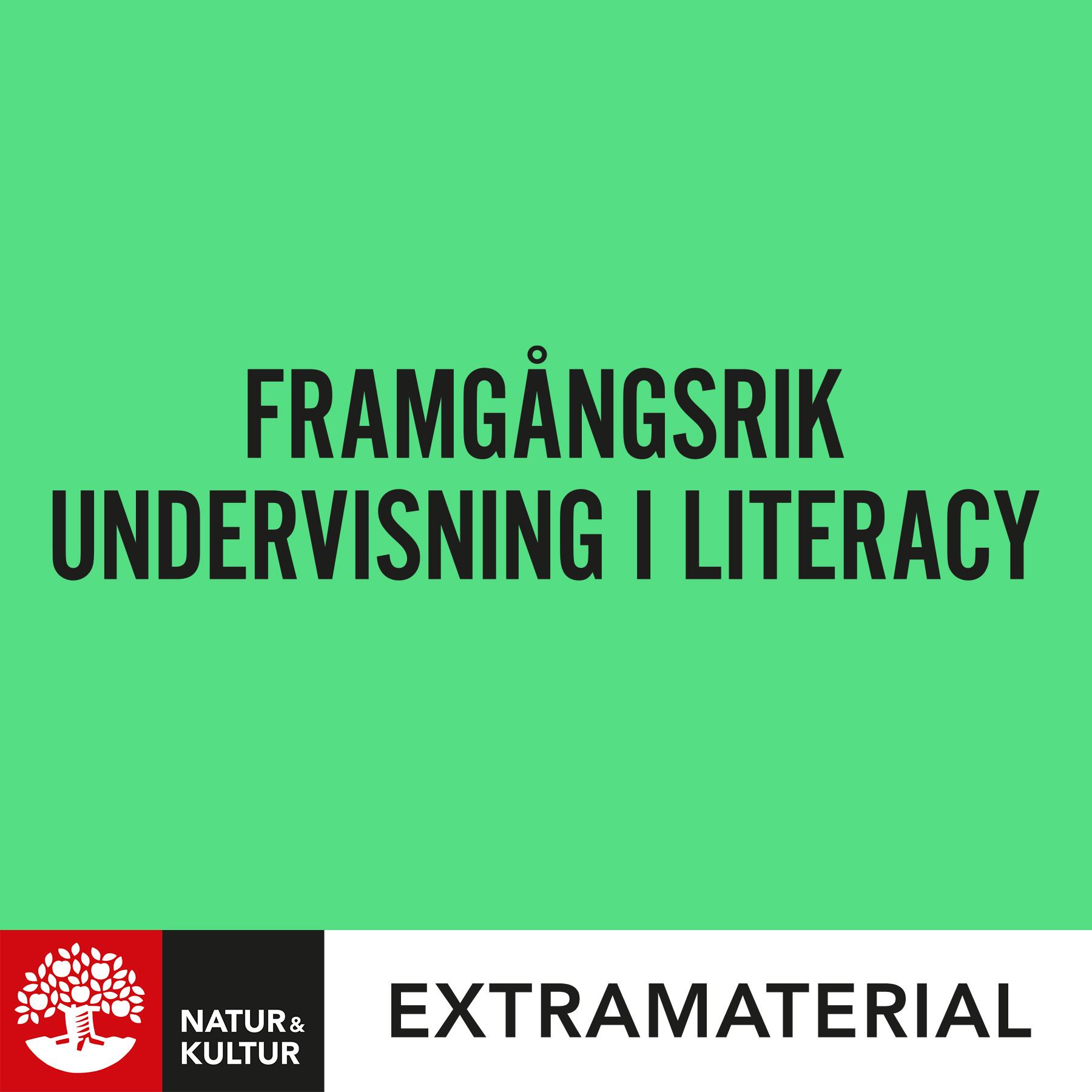 Framgångsrik undervisning i literacy