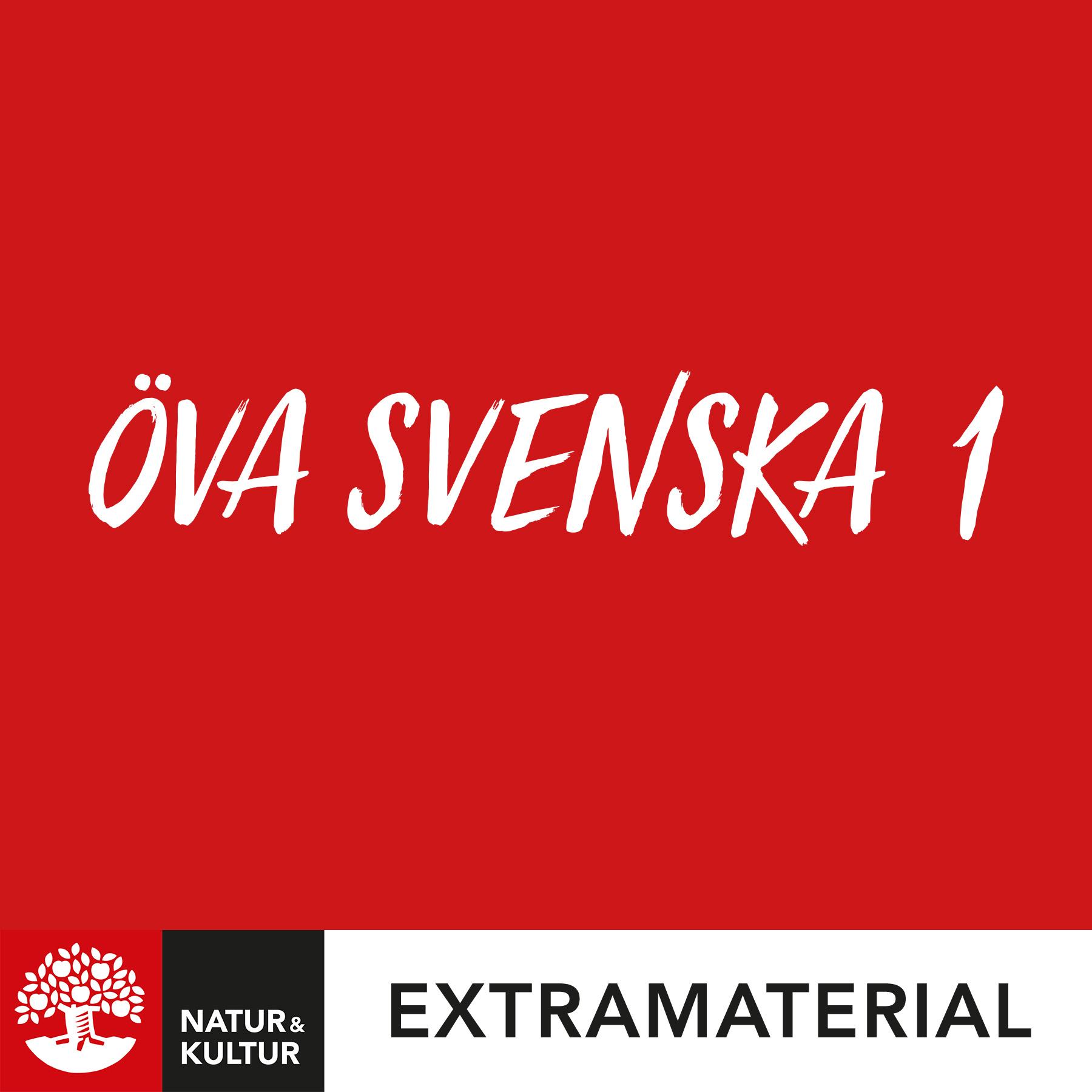 Öva svenska 1