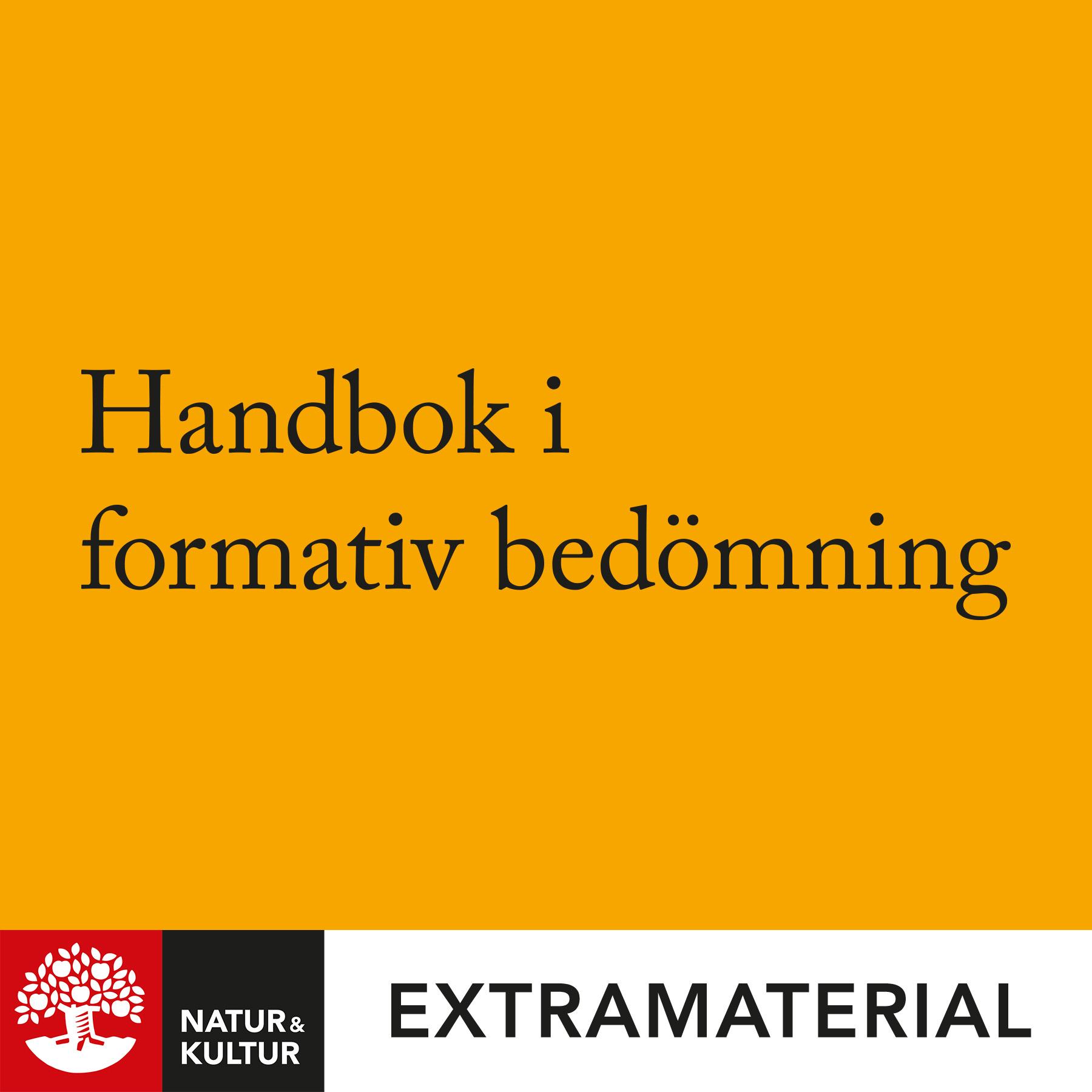 Handbok i formativ bedömning
