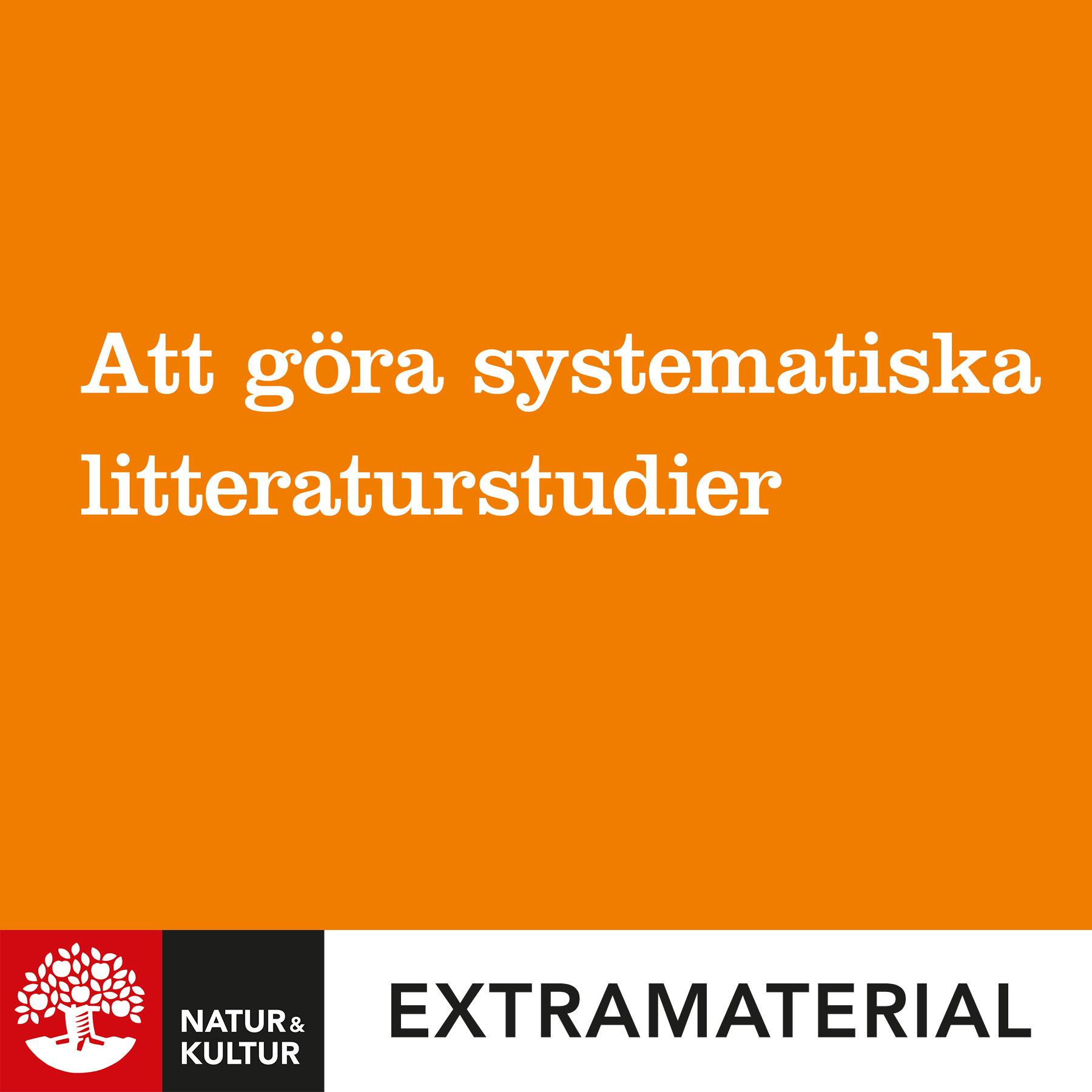 Att göra systematiska litteraturstudier (4:e utgåvan)