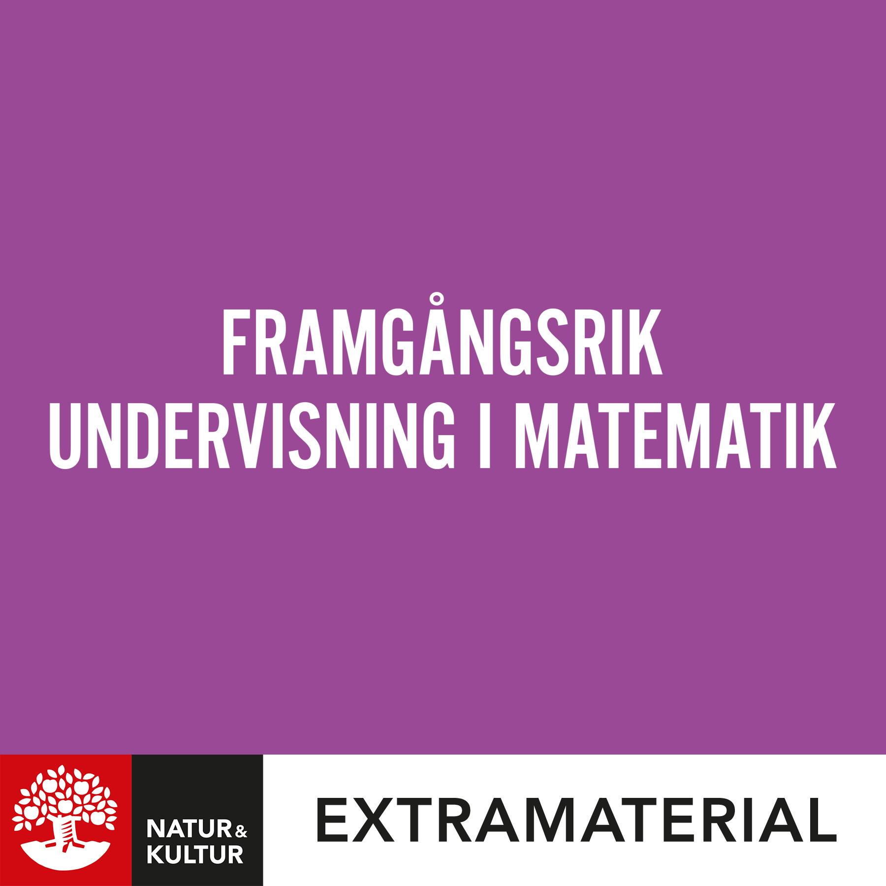 Framgångsrik undervisning i matematik